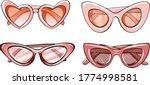 Pink Women's Glasses  4...