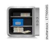 open vault full of cash on... | Shutterstock .eps vector #177500681