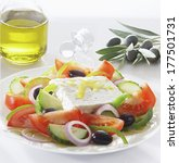 greek salad with feta cheese   Shutterstock . vector #177501731
