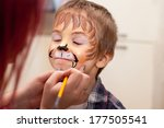 Little Boy With Painted Face A...