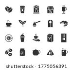 vector set of coffee and tea... | Shutterstock .eps vector #1775056391