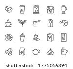 vector set of coffee and tea... | Shutterstock .eps vector #1775056394