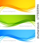 set of wavy banners | Shutterstock .eps vector #177505994