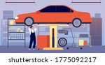 car garage. auto repair service ... | Shutterstock .eps vector #1775092217