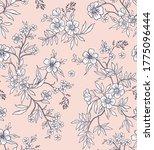 elegant floral pattern in small ... | Shutterstock .eps vector #1775096444