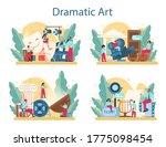 drama club concept set.... | Shutterstock .eps vector #1775098454