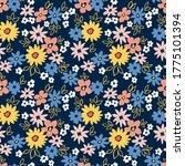 vintage floral background.... | Shutterstock .eps vector #1775101394
