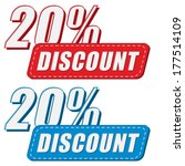 20 percentages discount in two... | Shutterstock .eps vector #177514109