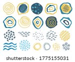 collection of hand drawn... | Shutterstock .eps vector #1775155031