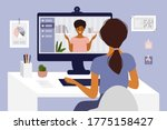 online courses  studying or... | Shutterstock .eps vector #1775158427