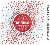 spring inscription label on red ...   Shutterstock .eps vector #177515981