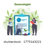 ecologist taking care of earth... | Shutterstock .eps vector #1775163221