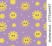 seamless pattern. cute yellow... | Shutterstock .eps vector #1775164457