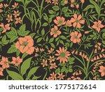 vintage floral background.... | Shutterstock .eps vector #1775172614