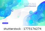 e learning online education...   Shutterstock .eps vector #1775176274