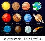cartoon solar system planets.... | Shutterstock .eps vector #1775179931