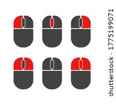 mouse buttons click isolated... | Shutterstock .eps vector #1775199071