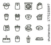 take away food black thin line... | Shutterstock .eps vector #1775230097
