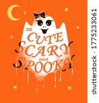 cute  scary and spooky ghost... | Shutterstock .eps vector #1775233061