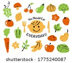 Illustration Of Vegetables And...