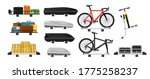 car roof rack set. isolated... | Shutterstock .eps vector #1775258237