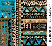 african doodle ethnic texture... | Shutterstock .eps vector #1775260247