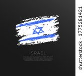 Flag Of Israel In Grunge Brush...