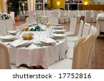 tables set for an event | Shutterstock . vector #17752816