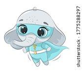 cute elephant super hero....   Shutterstock .eps vector #1775288297