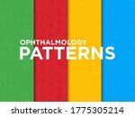 ophthalmology seamless pattern...   Shutterstock .eps vector #1775305214