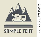 camper icon or sign  vector... | Shutterstock .eps vector #177530825
