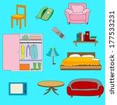 set of interior vintage stuff   Shutterstock .eps vector #177533231
