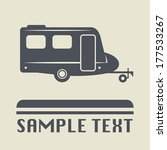 camper icon or sign  vector... | Shutterstock .eps vector #177533267
