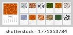 2021 calendar with animal print ... | Shutterstock .eps vector #1775353784
