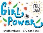 girl power slogan lettering.... | Shutterstock .eps vector #1775356151