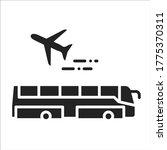 airport transfer black glyph...