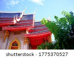 Thai Art On Roof Church At Thai ...