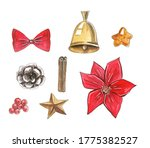 Christmas Elements  Red Bow ...