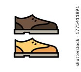 shoes icon. simple color with...