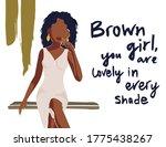 beautiful african american... | Shutterstock .eps vector #1775438267