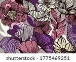 bold flower pattern in full...   Shutterstock .eps vector #1775469251