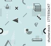 stylized geometric primitive.... | Shutterstock .eps vector #1775506247