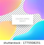 vector set of colored stickers... | Shutterstock .eps vector #1775508251