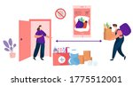 no contact home delivery during ... | Shutterstock .eps vector #1775512001