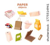 set with paper objects.... | Shutterstock .eps vector #1775514941