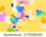 plastic colorful shapes.... | Shutterstock .eps vector #1775536154