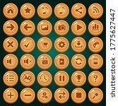 buttons icon set design deluxe...
