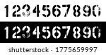 set of grunge stencil numbers.... | Shutterstock .eps vector #1775659997