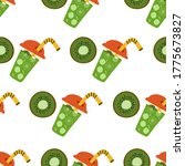 seamless pattern with green... | Shutterstock .eps vector #1775673827