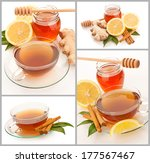 Collage Of Hot Tea With...